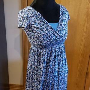 Boden lightweight comfy short sleeve midi dress